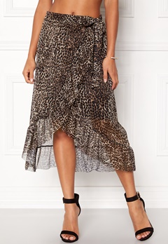 Pieces Lulu Medi Mesh Skirt Black Bubbleroom.se