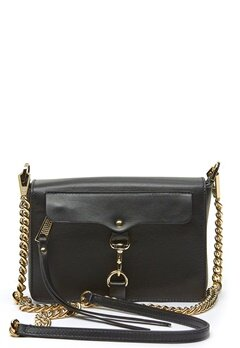 Rebecca Minkoff Mab Flap Crossbody Bag 001 Black/Light Gold Bubbleroom.se