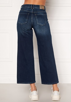 ONLY Madison HI Life Wide Crop Jeans Dark Denim Blue Bubbleroom.se