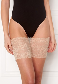 MAGIC Bodyfashion Lace Thigh Band Latte Bubbleroom.se