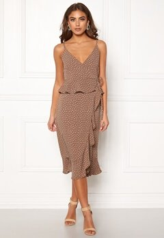 Make Way Analisa dress Brown / White / Dotted Bubbleroom.se