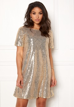 Make Way Blair sequins dress Gold Bubbleroom.se