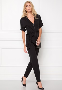 Make Way Britney  Jumpsuit Svart Bubbleroom.se