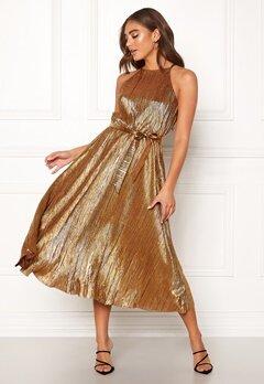 Make Way Calista pleated dress Bronze Bubbleroom.se