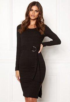 Make Way Camille belted dress Black Bubbleroom.se