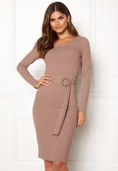 Make Way Camille belted dress Brown Bubbleroom.se