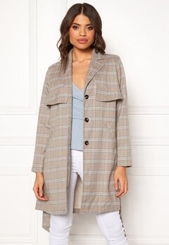 Make Way Cassidy Coat Beige / Checked Bubbleroom.se