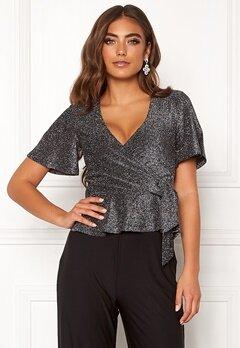 Make Way Dila sparkling top Black / Silver Bubbleroom.se