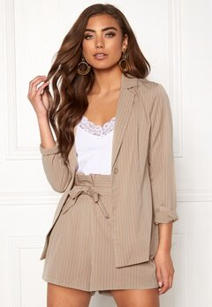 Make Way Disa soft blazer Beige / Striped Bubbleroom.se