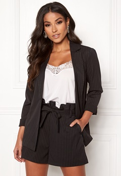 Make Way Disa soft blazer Black / Striped Bubbleroom.se