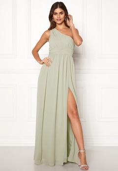 Make Way Ellamae one shoulder gown Dusty green Bubbleroom.se