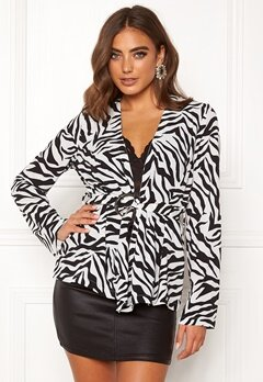 Make Way Elly soft blazer Zebra Bubbleroom.se