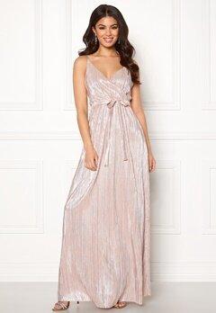 Make Way Elsa pleated lurex dress Silver Bubbleroom.se