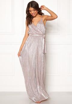 Make Way Elsa pleated lurex dress Pink / Silver Bubbleroom.se