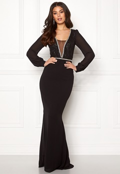 Make Way Emeline gown Black Bubbleroom.se