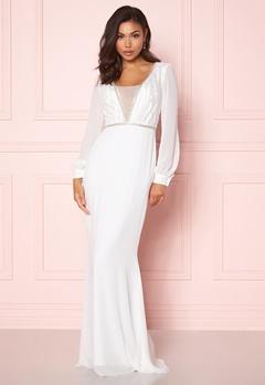 Make Way Emeline gown White Bubbleroom.se
