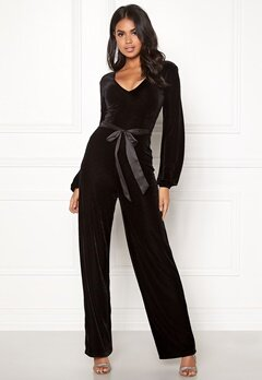 Make Way Farah velvet jumpsuit Black Bubbleroom.se