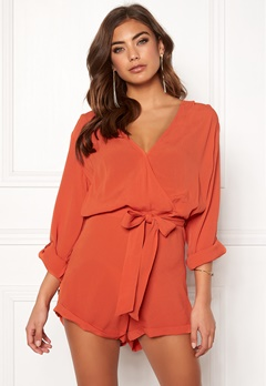 Make Way Flynn Playsuit Rust Bubbleroom.se