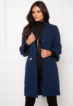Make Way Giovanna Coat (Ladies) Dark blue Bubbleroom.eu