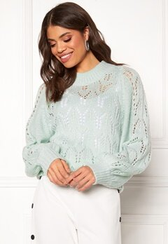 Make Way Jade knitted sweater Light mint Bubbleroom.se