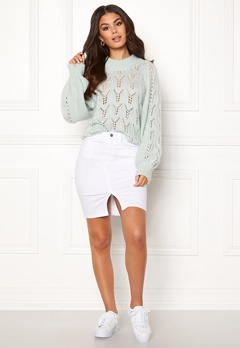 Make Way Jade knitted sweater Light mint Bubbleroom.se