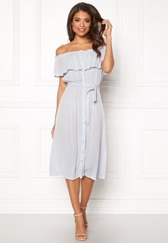 Make Way Jaqline offshoulder dress Light blue Bubbleroom.se