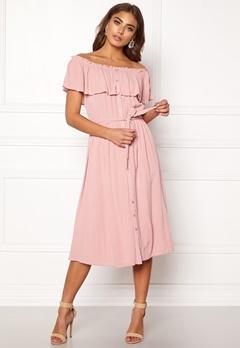 Make Way Jaqline offshoulder dress Light pink Bubbleroom.se