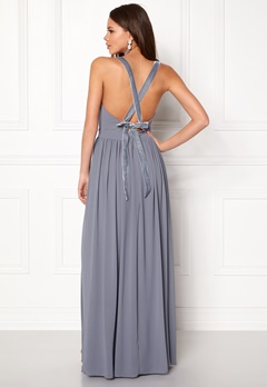 Make Way Jonna Maxi Dress Dusty blue Bubbleroom.se