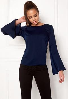 Make Way Joyce blouse Dark blue Bubbleroom.fi