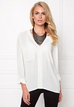 Make Way Juno Blouse White Bubbleroom.no