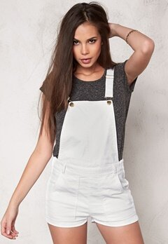 Make Way Kim Dungarees Hängselshorts White Bubbleroom.se
