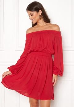 Make Way Krista offshoulder dress Red Bubbleroom.se