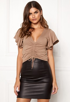 Make Way Lenora top Brown Bubbleroom.se