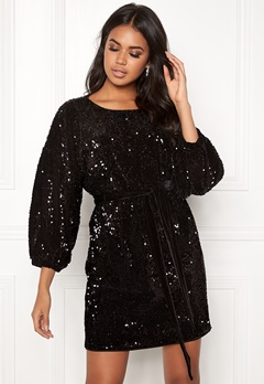 Make Way Lettie sequin dress Black Bubbleroom.se