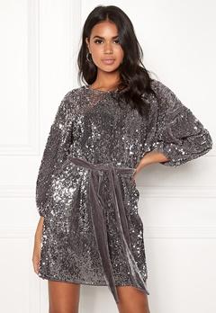 Make Way Lettie sequin dress Grey Bubbleroom.se