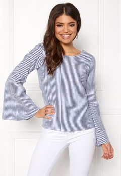 Make Way Macie blouse White / Blue / Striped Bubbleroom.fi