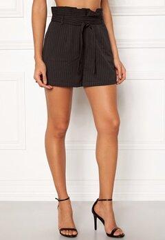 Make Way Disa paperbag shorts Black / White / Striped Bubbleroom.se