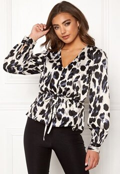Make Way Miriam blouse Black / Leopard Bubbleroom.se