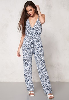 Make Way Nicole Jumpsuit White/Blue/Patterned Bubbleroom.se