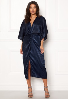 Make Way Nikki kimono dress Navy Bubbleroom.se
