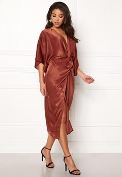 Make Way Nikki kimono dress Rust Bubbleroom.se