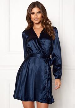 Make Way Ophelia wrapped dress Dark blue Bubbleroom.se