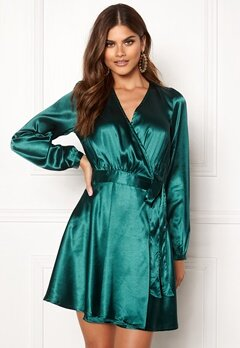 Make Way Ophelia wrapped dress Dark green Bubbleroom.se