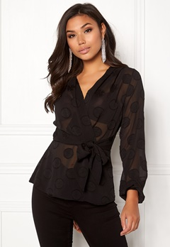 Make Way Parthenia blouse Black Bubbleroom.se