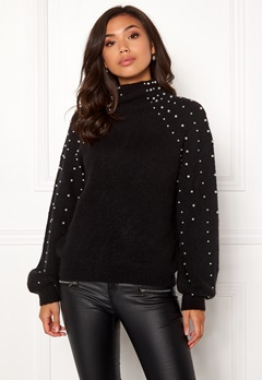 Make Way Pearlie knitted sweater Black Bubbleroom.se