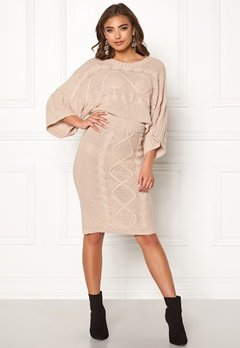 Make Way Rania knitted skirt Beige Bubbleroom.se