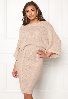 Make Way Rania knitted sweater Beige Bubbleroom.se