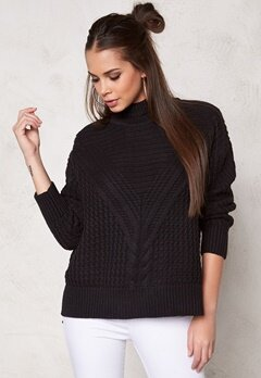 Make Way Raquel Sweater Black Bubbleroom.fi