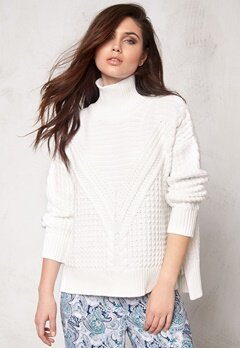 Make Way Raquel Sweater White Bubbleroom.no