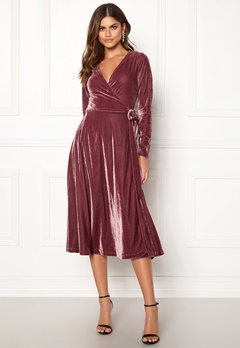 Make Way Ronja midi dress Dusty pink Bubbleroom.se
